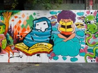 Bookworms - Street Mural at St. Paul Manila
